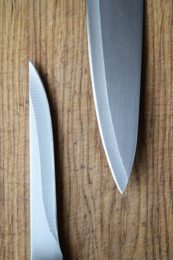two knife blades