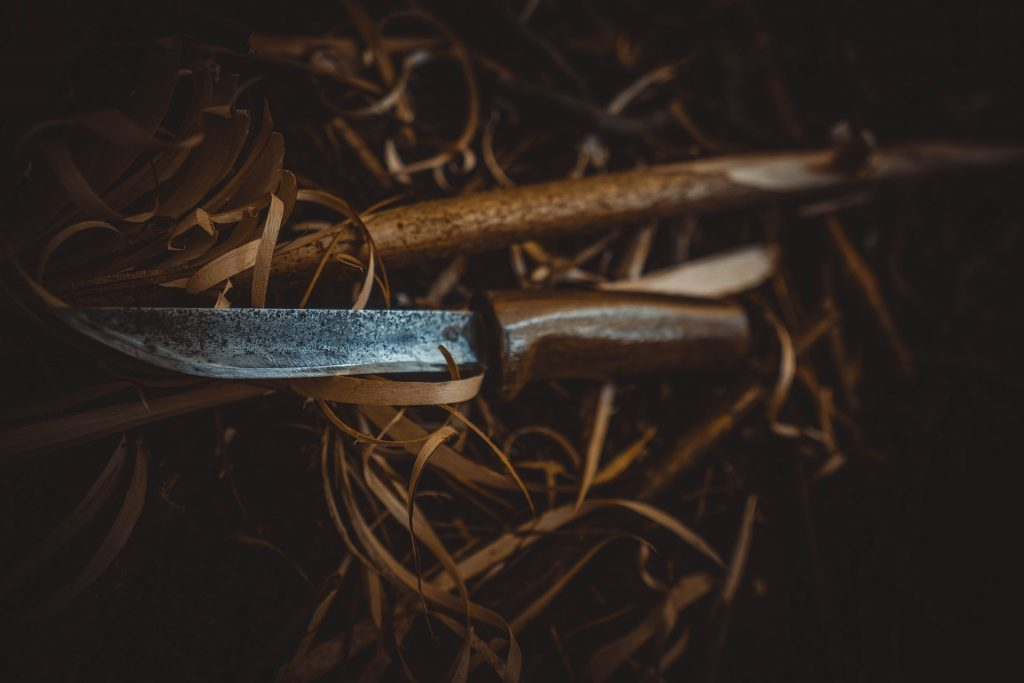hunting knife in nature