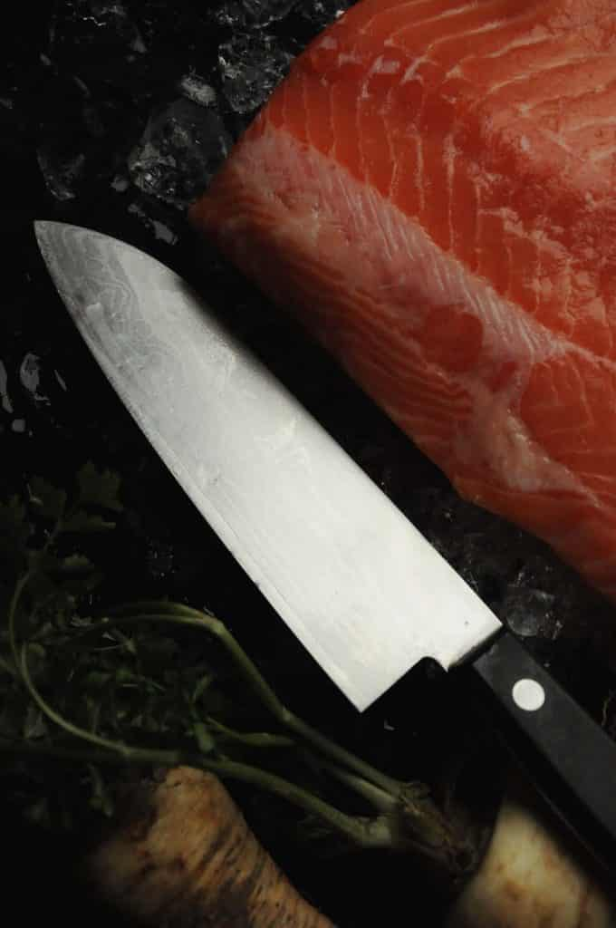 knife and fish fillet